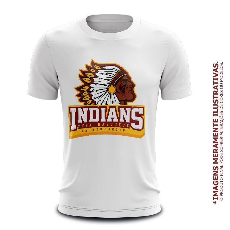 Infantil - Camiseta Casual Tupã Indians Basquete Branca