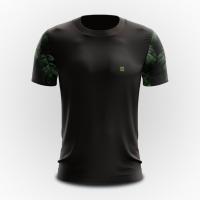 Camiseta Masculina Básica Heatd  - Preta Floral