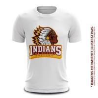 Camiseta Casual Indians Tupã Basquete - Branca
