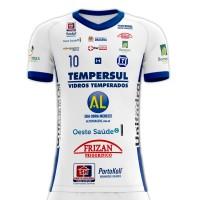 Camisa Dracena Futsal Oficial 2019 - Branca