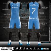 Kit C/ 12 Uniformes De Futebol Completo Em Dryfit 12 Kits De Camisa + Calção + Meião